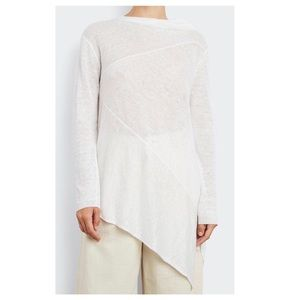 INHABIT Asymmetrical Lightweight Linen Sweater NWT